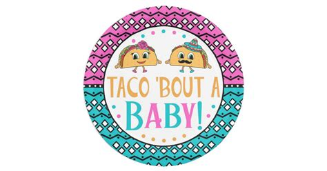 Taco 'Bout A Baby! Gender reveal plates