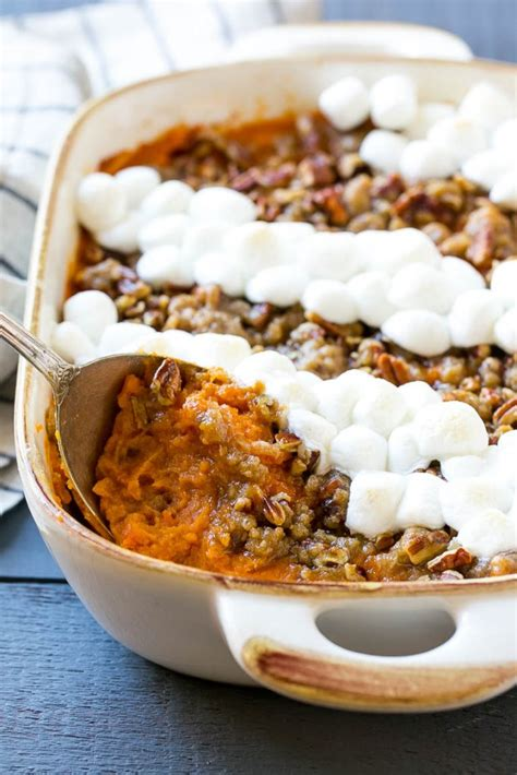 Sweet Potato Casserole with Marshmallows - Dinner at the Zoo