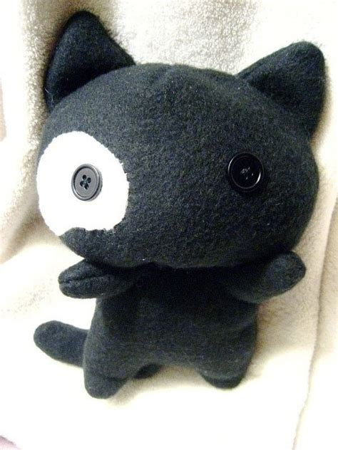 Black Kitty Plush · A Cat Plushie · Sewing on Cut Out