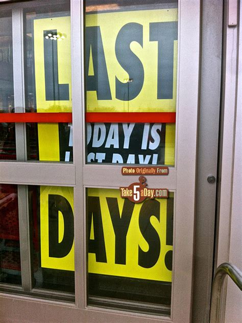Take Five a Day » Blog Archive » target last day