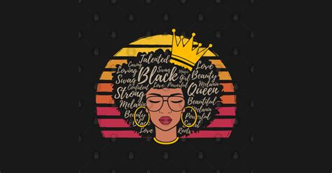 Black History Month Afro Natural Hair Word Art For Women