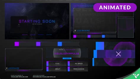 'Frontier': Animated Twitch Overlays & Stream Templates