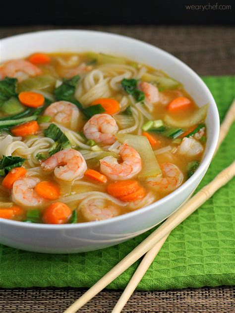 Chinese fish soup with shrimps