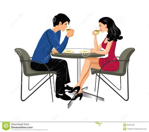 Man And Woman Drinking Coffee Stock Photo - Image: 32487406