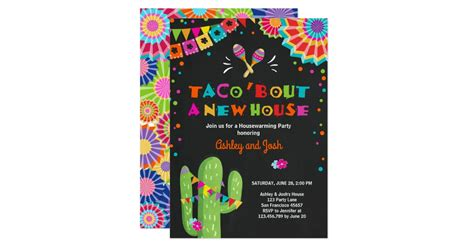 Taco Bout A New House Fiesta Housewarming Party Invitation
