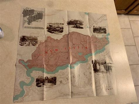 Map of New Austin from Standard Edition : reddeadredemption