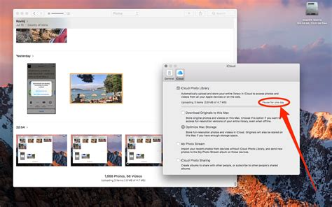 How to pause iCloud Photo Library updates