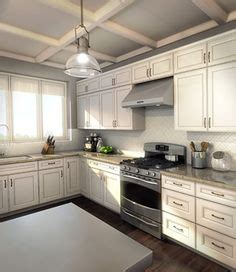 Lowes Caspian Off white cabinets   Off White Kitchen