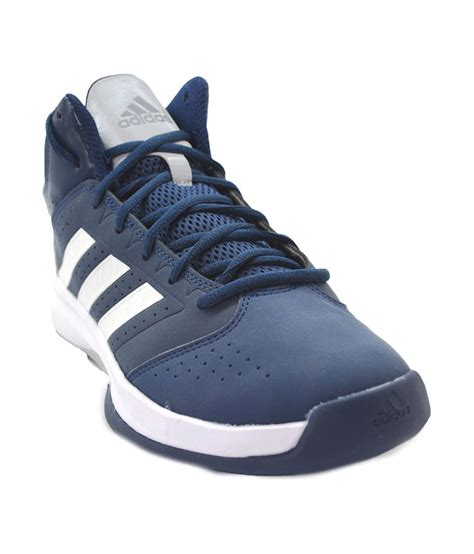 Adidas Blue Synthetic Leather Basketball Sports Shoes For