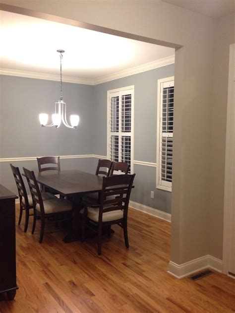 Boothbay Gray (Benjamin moore) for the dining room and