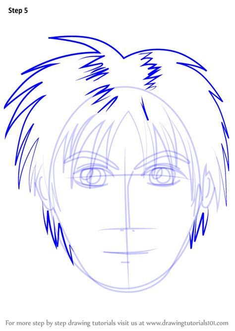 Step by Step How to Draw Anime Boy Face
