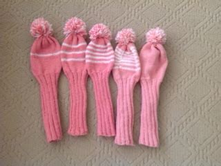 Handknit Golf Club Covers – made by marni
