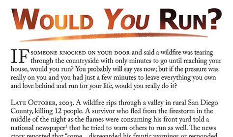 Free Gospel Tract - Would You Run? - Sovereign Grace