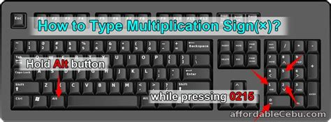 How to Make Multiplication Sign (×) in Computer