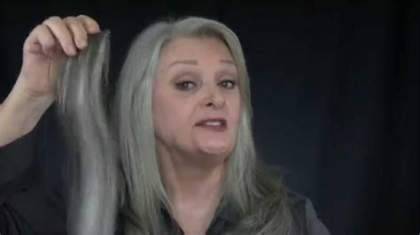 UniWigs Extensions for Gray Hair B - YouTube