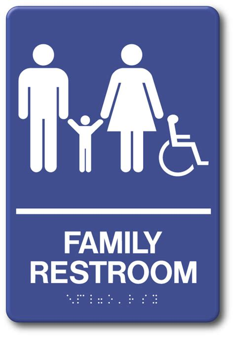 Family Restroom Sign - In Stock - Fast Ship - Low Prices