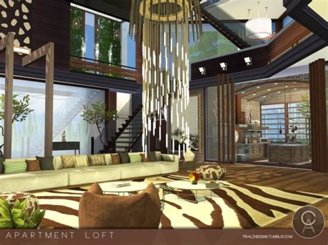 The Sims Resource: Apartment Loft by Pralinesims • Sims 4