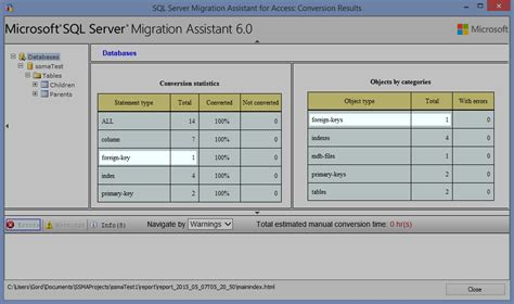 Import Access database into SQL Server preserving