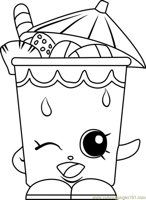 Little Sipper Shopkins Coloring Page - Free Shopkins