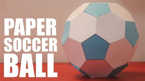 How to make a paper soccer ball - YouTube