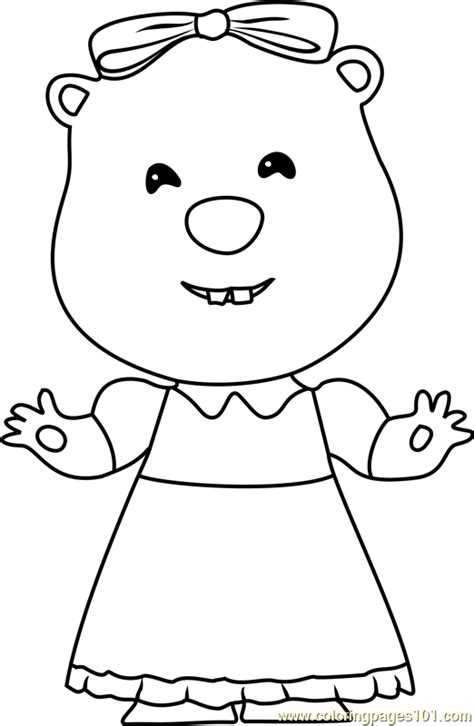 Loopy Coloring Page - Free Pororo the Little Penguin