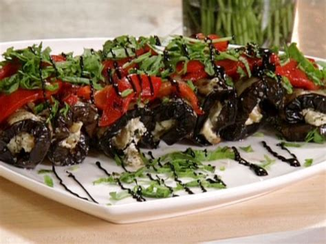Grilled Eggplant Roulade with Balsamic Glaze Recipe