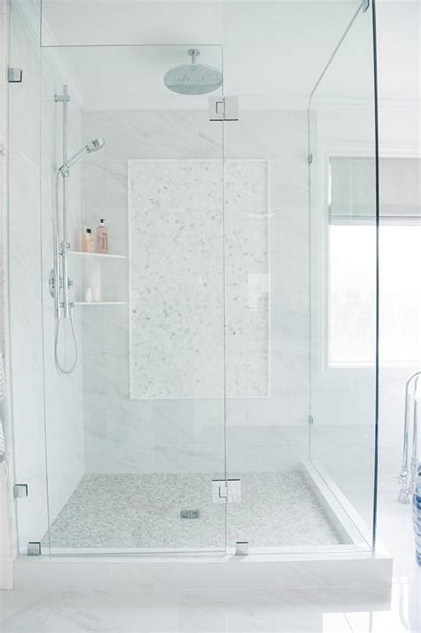 Gray Glass Mini Brick Shower Border Tiles with Stacked