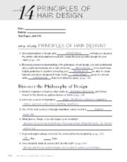 Milady theory workbook answers chapter 30