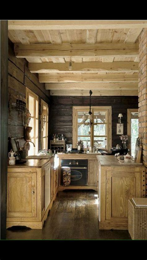 Pin by Cindy Hartsfield on Cabin - kitchens | Rustic cabin