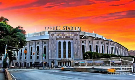 Front Gate of Yankee Stadium at Sunset Photograph by