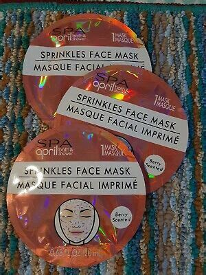 Spa April Bath & Shower Face Mask Berry Scented Three