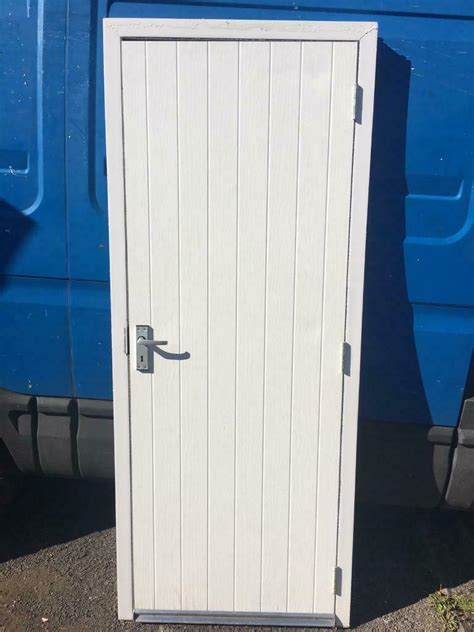 Used Upvc White Composite Shed Door | in Whetstone