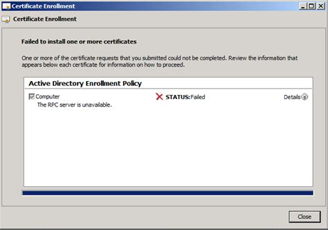 """""""RPC Server is unavailable"""" error when requesting a"""