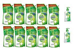 Lot of 10 Dettol Liquid Hand wash Refill 750ml each with 2