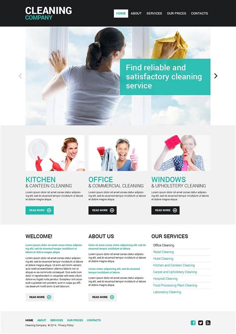Cleaning Responsive Website Template #48107