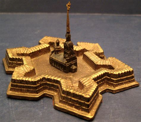 Building Collector: Russian Brass Buildings on Marble Bases