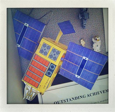 Try It At Home: Build your own satellite (paper model