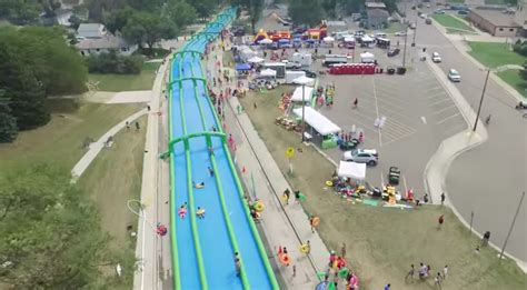 Ride The World's Longest Inflatable Water Slide At Slide