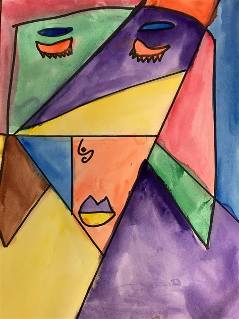 Kathy's Art Project Ideas: Picasso Portrait Inspired Art