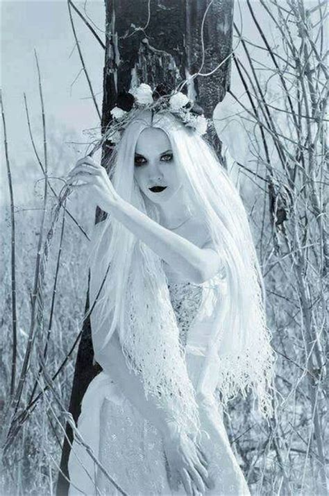 White ghost beautiful haunt cemetary forest   Beautiful