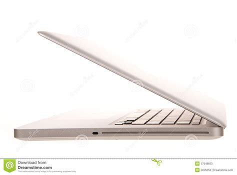 Laptop Computer Side View Stock Photos - Image: 17648653