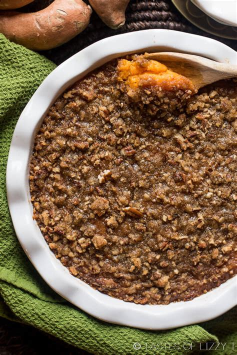 Sweet Potato Casserole with Pecan Streusel Topping {Best