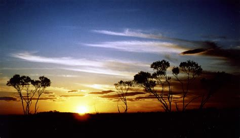 Sunset in Australian outback | This is a scanned analog
