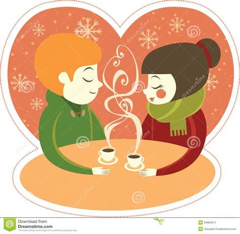 Coffee for two stock vector