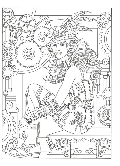 Pin on Steampunk Style ~ Adult Coloring