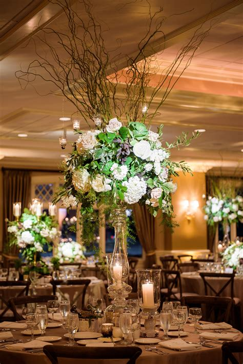 Tall Curly Willow and Hydrangea Centerpieces | Flower