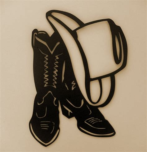 Western,Cowboy,Boot,Hat,Wall Accent,Metal Art,Lodge